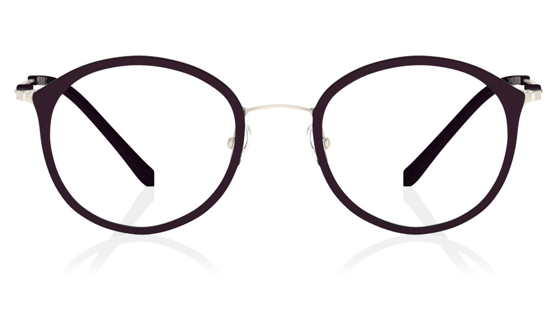 Purple Round Rimmed Eyeglasses from Titan
