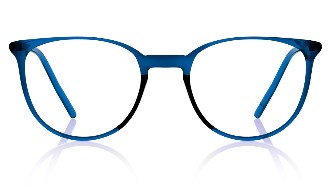 Blue Round Rimmed Eyeglasses from Titan