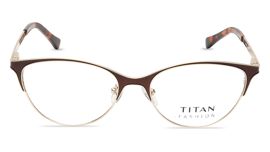 Gold CatEye Rimmed Eyeglasses from Titan