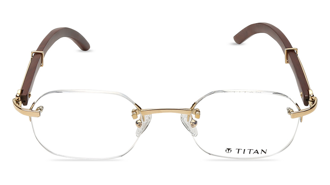 Gold Round Rimless Eyeglasses from Aristo