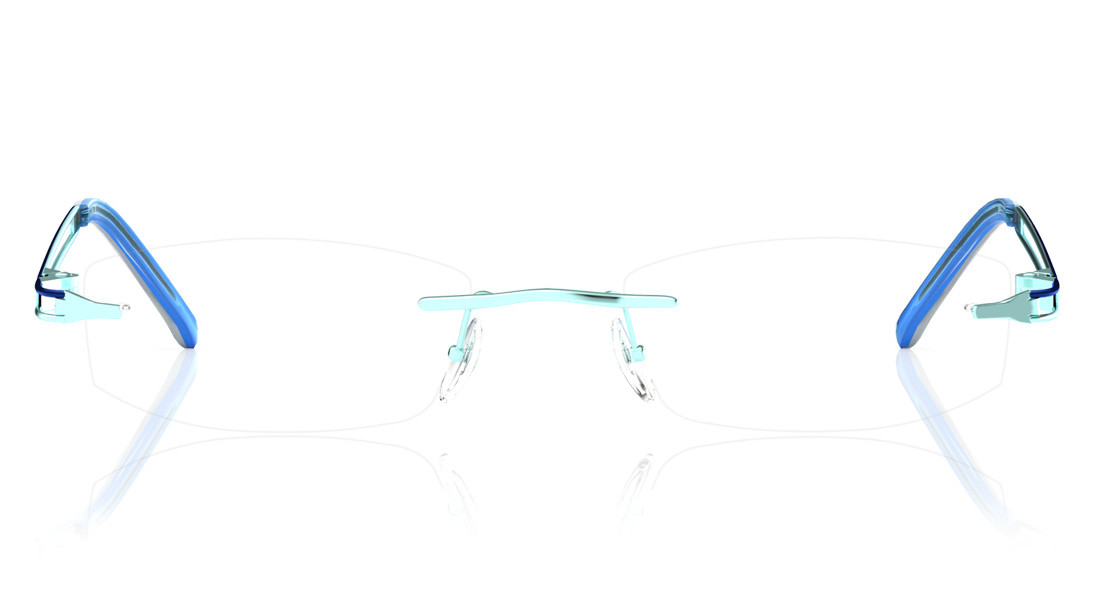 Green Rectangle Rimless Eyeglasses from Titan