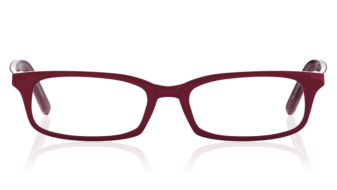 Red Rectangle Rimmed Eyeglasses from Titan