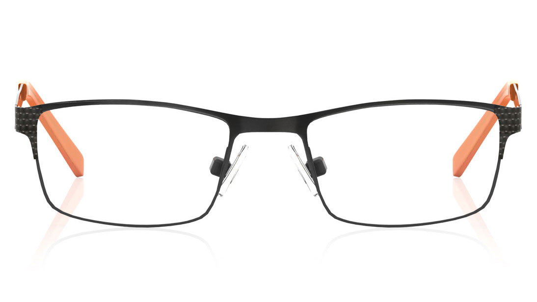 Gun Metal Rectangle Rimmed Eyeglasses from Titan