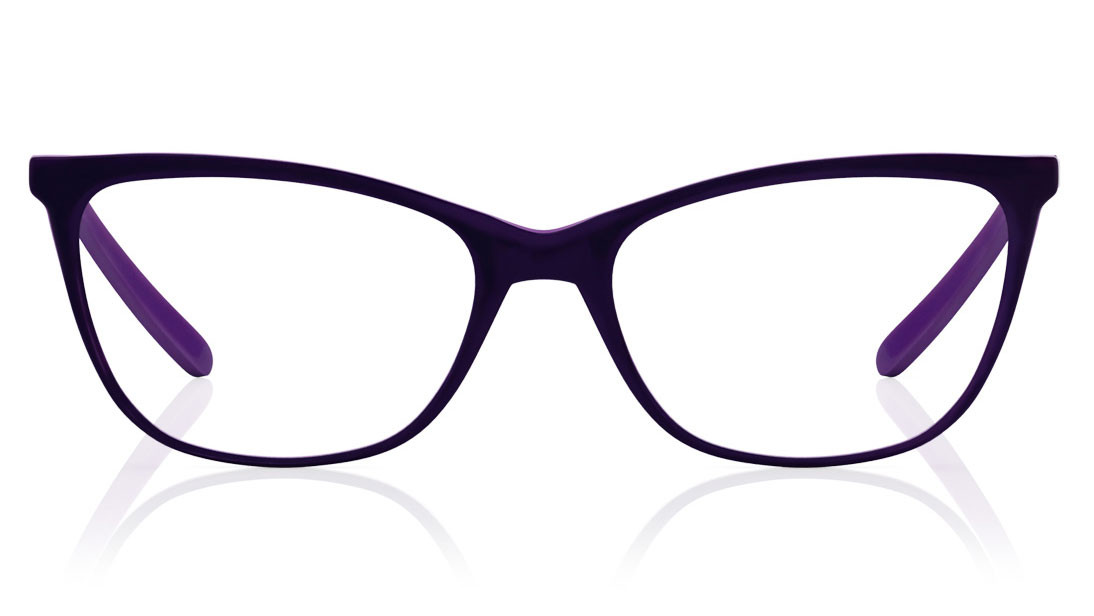 Purple CatEye Rimmed Eyeglasses from Titan