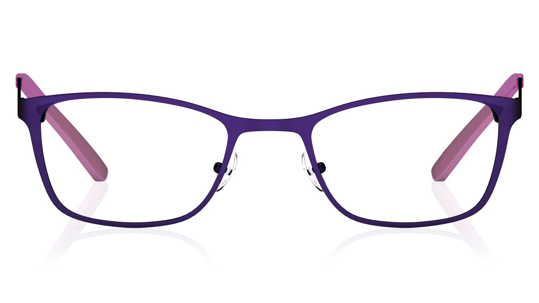 Purple Rectangle Rimmed Eyeglasses from Titan
