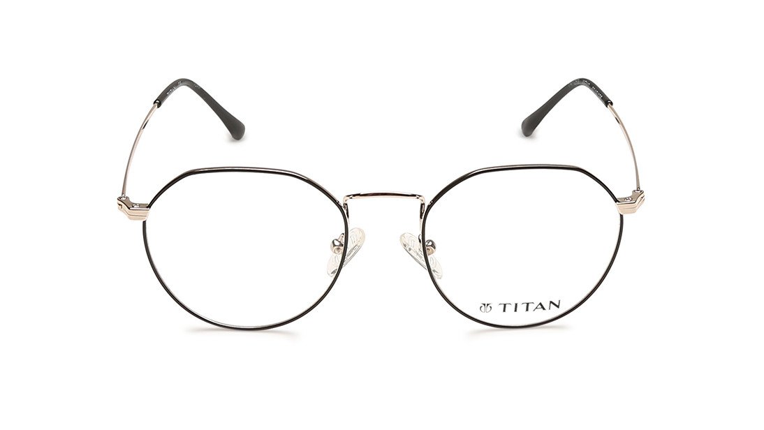 Gold Round Rimmed Eyeglasses from Titan