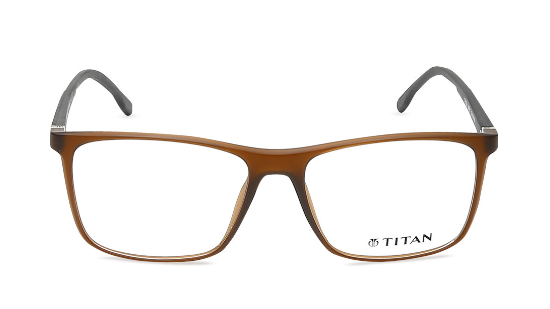 Brown Wayfarer Squares Rimmed Eyeglasses from Titan