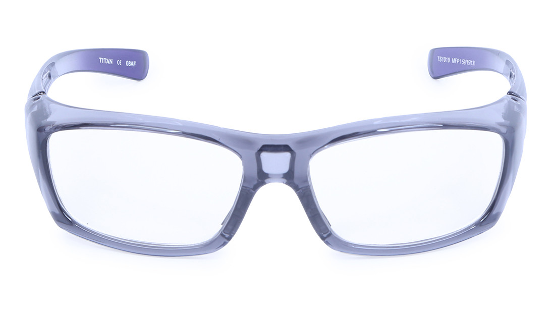 Grey Rectangle Rimmed Eyeglasses from Titan