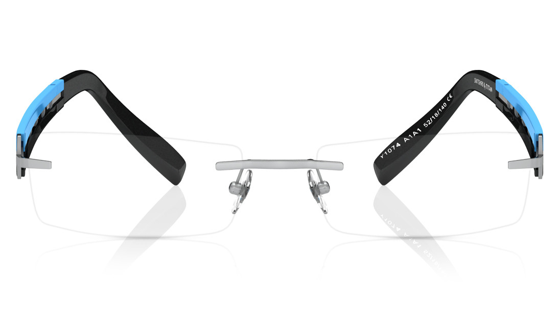 Multi Rectangle Rimless Eyeglasses from Titan