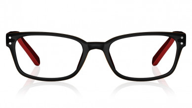 Black Red Rectangle Rimmed  Eyeglasses from Dash