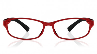 Red Rectangle Rimmed  Eyeglasses from Dash