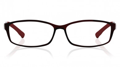 Maroon Rectangle Rimmed  Eyeglasses from Dash