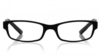Black Rectangle Rimmed  Eyeglasses from Titan