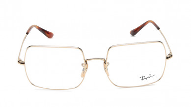 Gold Square Rimmed  Eyeglasses from Rayban