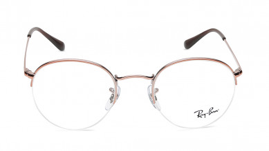 Bronze Round Semi-Rimmed  Eyeglasses from Rayban