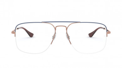 Bronze Square Semi-Rimmed  Eyeglasses from Rayban
