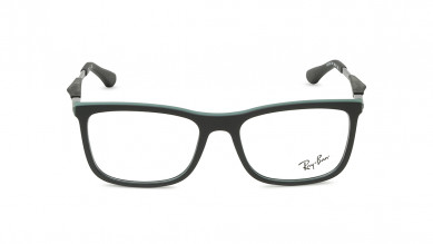 Gunmetal Square Rimmed  Eyeglasses from Rayban