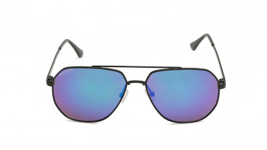 Black  Polygon  Fastrack Unisex Sunglasses