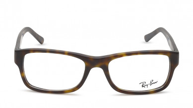 Brown Rectangle Rimmed  Eyeglasses from Rayban