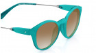 Green Round Fastrack Women Sunglasses -3