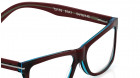 Brown Rectangle Rimmed Eyeglasses from Titan-3