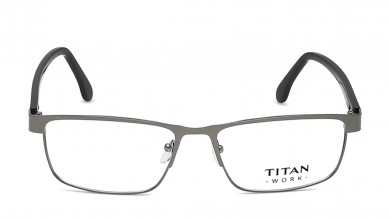 Black/Light Blue Rectangle Rimmed Eyeglasses from Titan