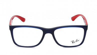 Black Rectangle Rimmed Eyeglasses from Rayban