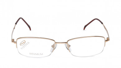 Black Rectangle Rimless Eyeglasses from Stepper