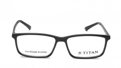Maroon Rectangle Rimmed Eyeglasses from Titan