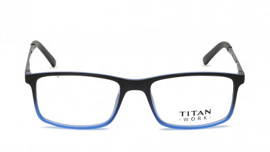 Purple Oval Rimmed Eyeglasses from Titan