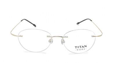 Black Round Rimless Eyeglasses from Titan